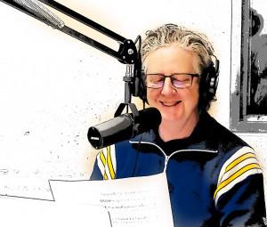 image of the host in studio