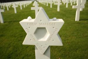 Headstone of Jewish veteran
