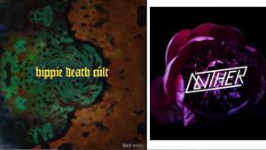 Hippie death cult black snake single art Anther dark blooms