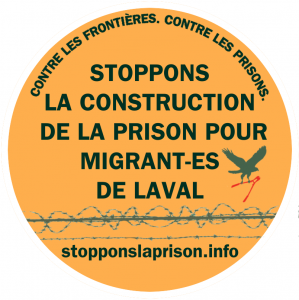 Image promoting resistance to the immigration detention centre