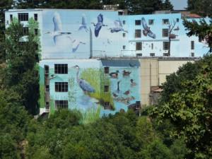 Mural on Portland Memorial