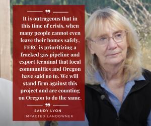 Sandy Lyons Impacted Landowner statement