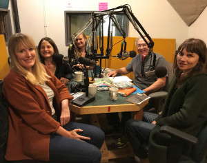 (from left) Kimberly King Parsons, Karen Russell, Lidia Yuknavitch, and Margaret Malone