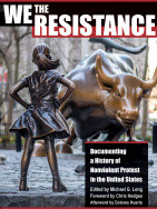 Book cover showing bronze statue of girl standing defiantly in front of the Wall Street bull