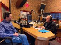 David Hattner in the KBOO studios