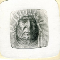 drawn from an edward curtis photo as a gift for my granddad